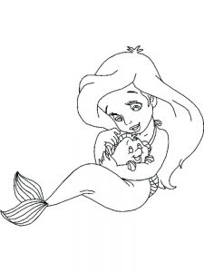 ariel and king triton coloring pages