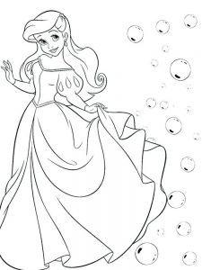 ariel characters coloring pages