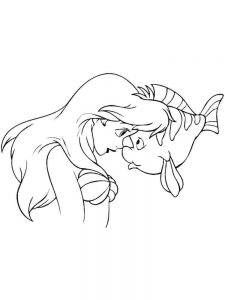 ariel christmas coloring pages