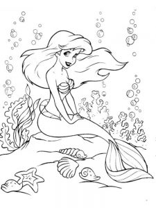 ariel coloring pages games
