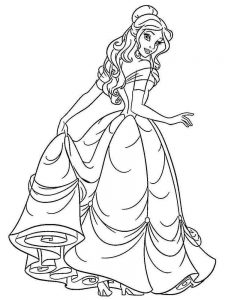 ariel colouring in pages