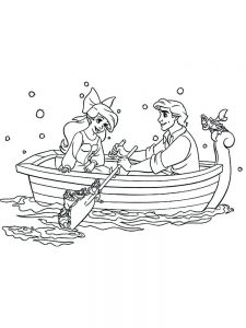ariel colouring pages free