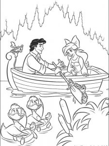 ariel the little mermaid coloring pages free 1