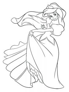 ariel the little mermaid coloring pages free