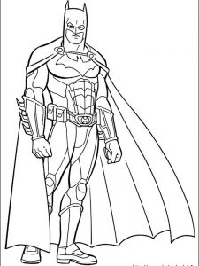 armored batman coloring pages