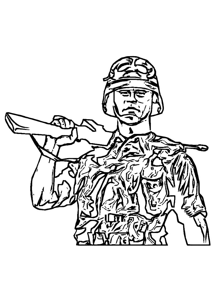 army coloring pages soldier free