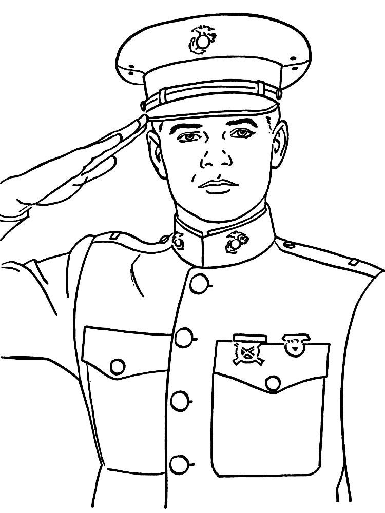 army soldier coloring pages print