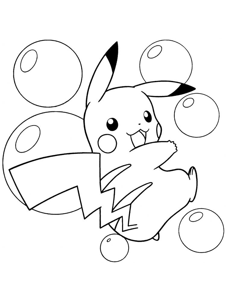 ash pokemon coloring page