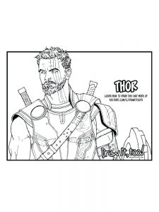 avengers coloring book pages