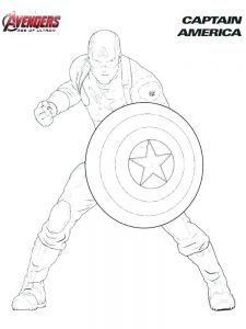 avengers coloring page pdf captain america