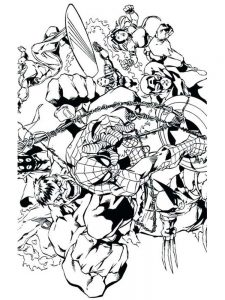 avengers coloring page printable