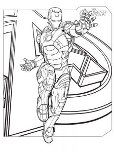 avengers coloring pages endgame