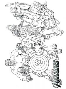 avengers coloring pages for toddlers