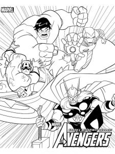 avengers coloring pages thanos