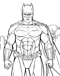 awesome batman coloring pages