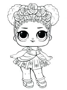baby alive doll coloring page