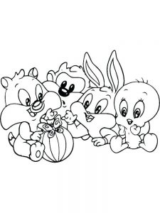baby bugs bunny and lola coloring pages