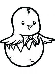 baby chick coloring pages