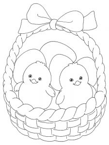 baby chick coloring pages to print