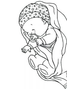 baby coloring pages free online