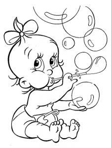 baby coloring pages free printable