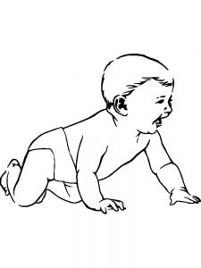 baby coloring pages pdf
