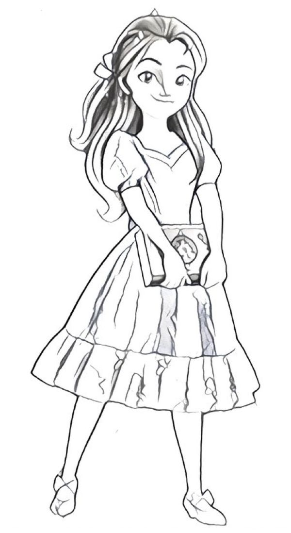 baby elena of avalor coloring page