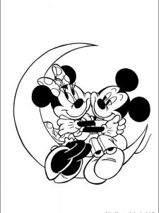 baby minnie mouse coloring pages printable