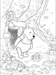 baby winnie the pooh and tigger coloring pages