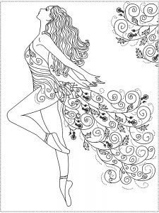 ballerina coloring book pages