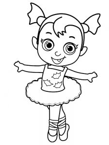 ballerina coloring page free