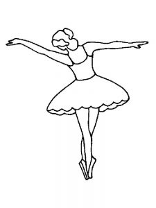 ballerina coloring pages arabesque
