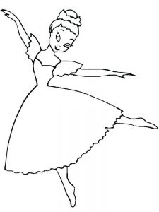 ballerina coloring pages free
