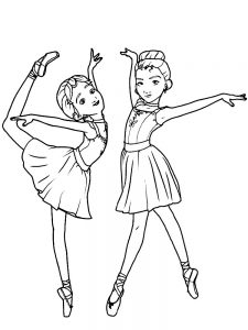 ballerina coloring pages online