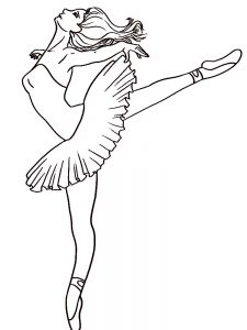 ballerina coloring pages printable