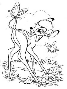 bambi characters coloring pages