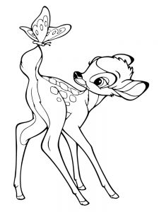 bambi coloring pages 002