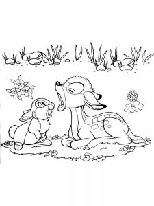 bambi coloring pages 012