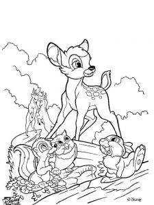 bambi deer coloring pages