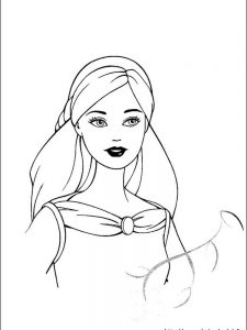 barbie adventure coloring pages