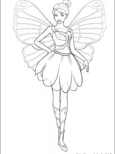 barbie baby coloring pages