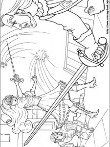 barbie baking coloring pages