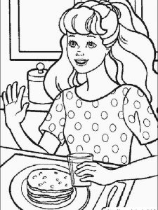barbie ball gown coloring pages