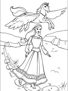 barbie ballerina coloring pages 1