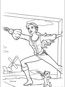 barbie castle coloring pages