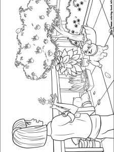 barbie cheerleader coloring pages