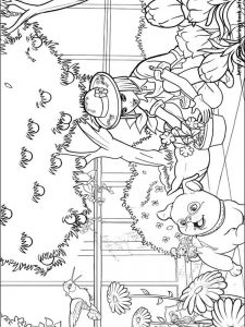 barbie clothes coloring pages