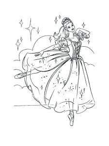 barbie coloring pages dancing