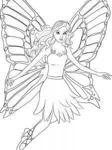 barbie coloring pages easy