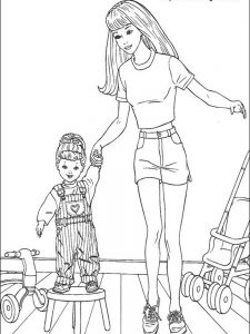 barbie coloring pages hd